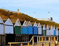 Seaside buildings in Bournemouth, Dorset